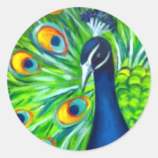Peacock Classic Round Sticker
