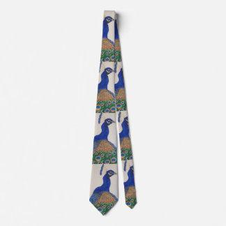 Peacock close up image tie