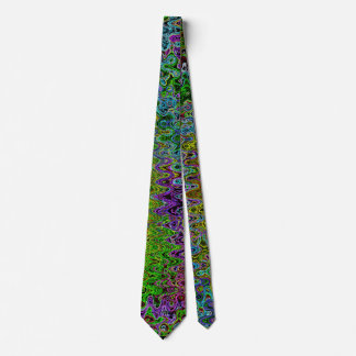Peacock Colored Abstract Tie