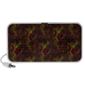 Peacock Colors Design iPod Speakers