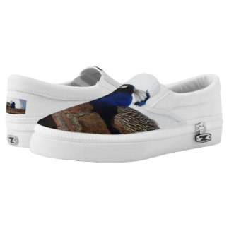 Peacock Custom Zipz Slip On Shoes,  Men & Women Printed Shoes