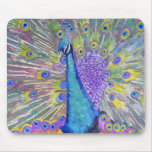 Peacock Dance Purple and Blue Mousemats