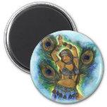 Peacock Dancer Magnet