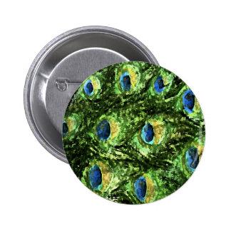 Peacock Design Button