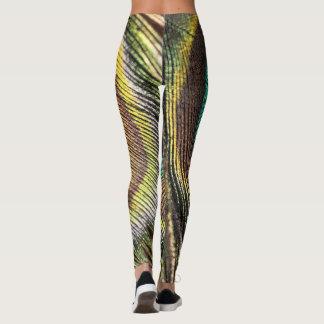 Peacock design leggings