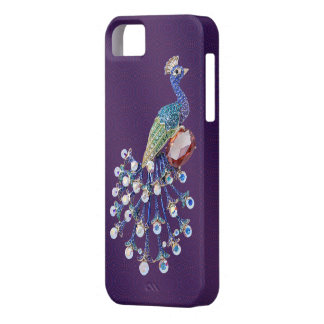 Peacock Digital Jewels Purple iPhone 5 Case