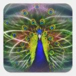 Peacock Dreamcatcher Square Sticker