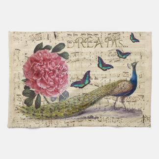 Peacock Dreams Tea Towel