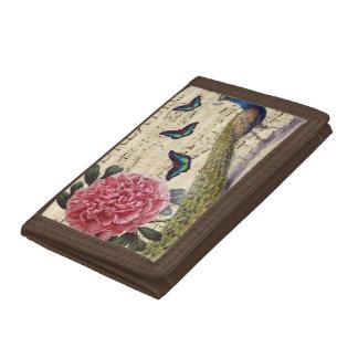 Peacock Dreams Trifold Wallet