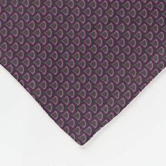Peacock Drops Pattern Plum Fleece Blanket