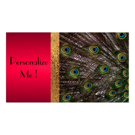 Peacock Elegant Modern Trendy / House-of-Grosch Business Cards
