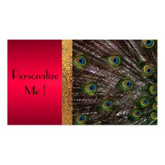 Peacock Elegant Modern Trendy / House-of-Grosch Pack Of Standard Business Cards