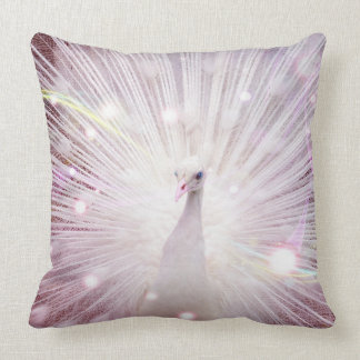 Peacock Fantasy in Pink Cushion