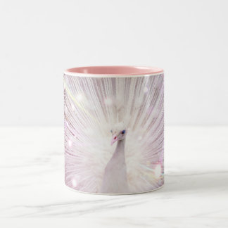 Peacock Fantasy in Pink Coffee Mugs