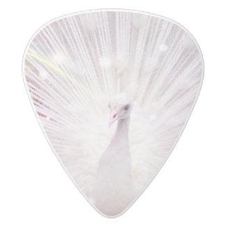 Peacock Fantasy in Pink White Delrin Guitar Pick