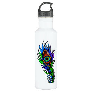 Peacock Feather 710 Ml Water Bottle