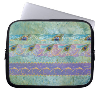 Peacock Feather Abstract Laptop Sleeve