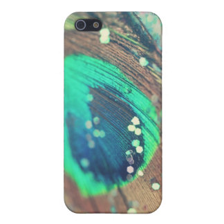 Peacock Feather and Glitter iPhone Case Case For The iPhone 5