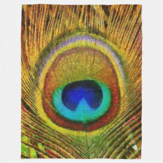 Peacock Feather Art Fleece Blanket
