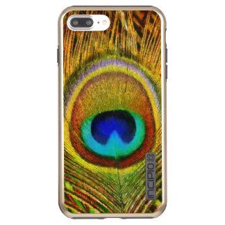 Peacock Feather Art Incipio DualPro Shine iPhone 8 Plus/7 Plus Case