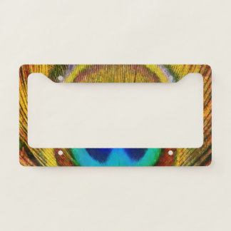 Peacock Feather Art Licence Plate Frame