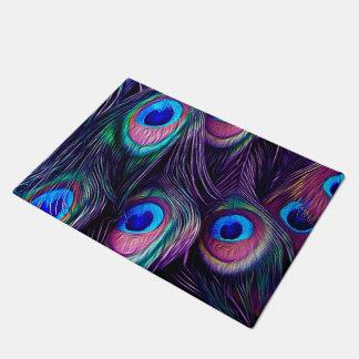Peacock Feather Doormat
