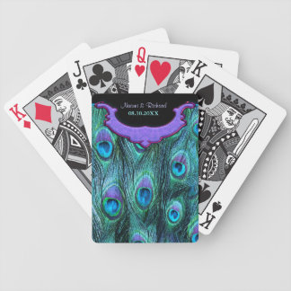Peacock Feather Drama - Customize Bicycle Playing Cards