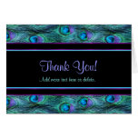 Peacock Feather Drama - Thank You Greeting Card