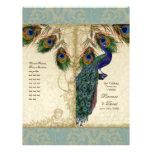 Peacock & Feather Elegant Matching Wedding Program 21.5 Cm X 28 Cm Flyer