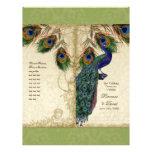 Peacock & Feather Elegant Matching Wedding Program Personalised Flyer
