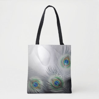 Peacock Feather Fantasy All-Over-Print Tote Bag