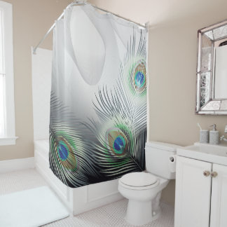 Peacock Feather Fantasy Shower Curtain