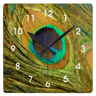 Peacock Feather Home Decor Wall Clock