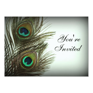 Peacock Feather Invitation - Photo