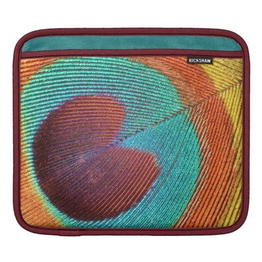 Peacock feather ipad case iPad sleeve