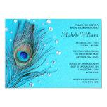 Peacock Feather Jewels Aqua Bridal Shower