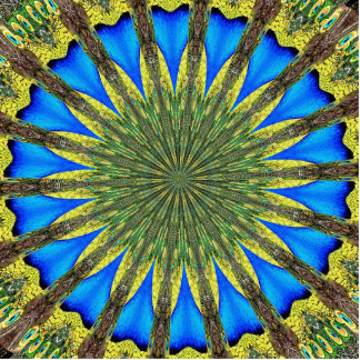 Peacock Feather Kaleidoscope 3 Cut Out