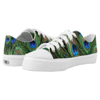Peacock Feather Low Tops