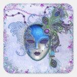 Peacock Feather Masquerade Mask