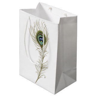 Peacock Feather Medium Gift Bag