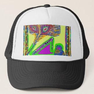Peacock Feather n Flute of Krishna Trucker Hat