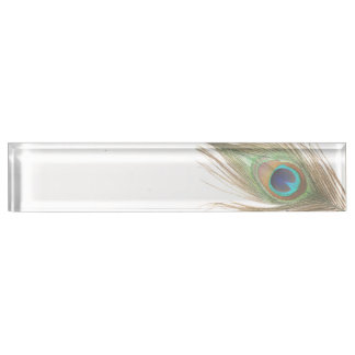 Peacock Feather Nameplate