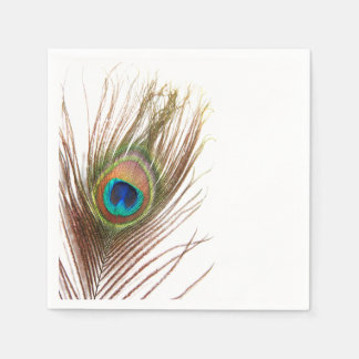 Peacock Feather Napkins Paper Napkin