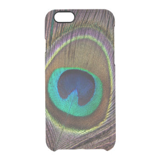 Peacock feather nouveau blue tribal hipster clear clear iPhone 6/6S case