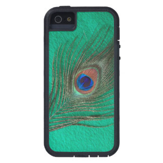 Peacock Feather on Green iPhone 5 Cover