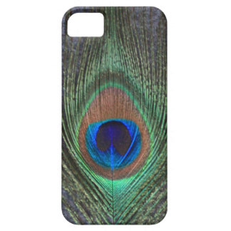 Peacock Feather on Grey iPhone 5 Barely There Case