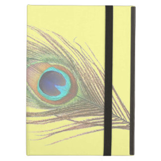 Peacock Feather on Yellow iPad Air Case