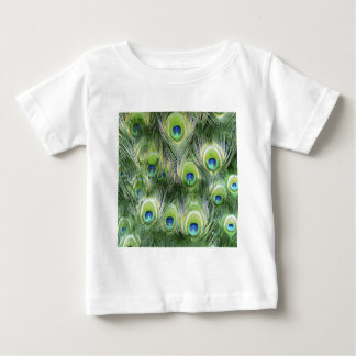 Peacock Feather Pattern Baby T-Shirt