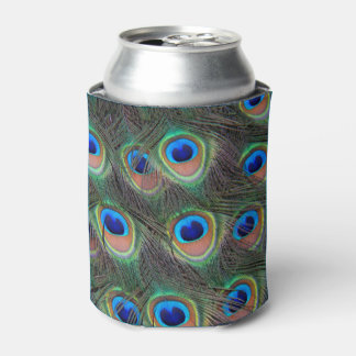 Peacock Feather Pattern Can Cooler