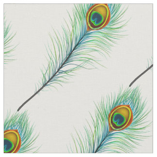 Peacock Feather Pattern Fabric